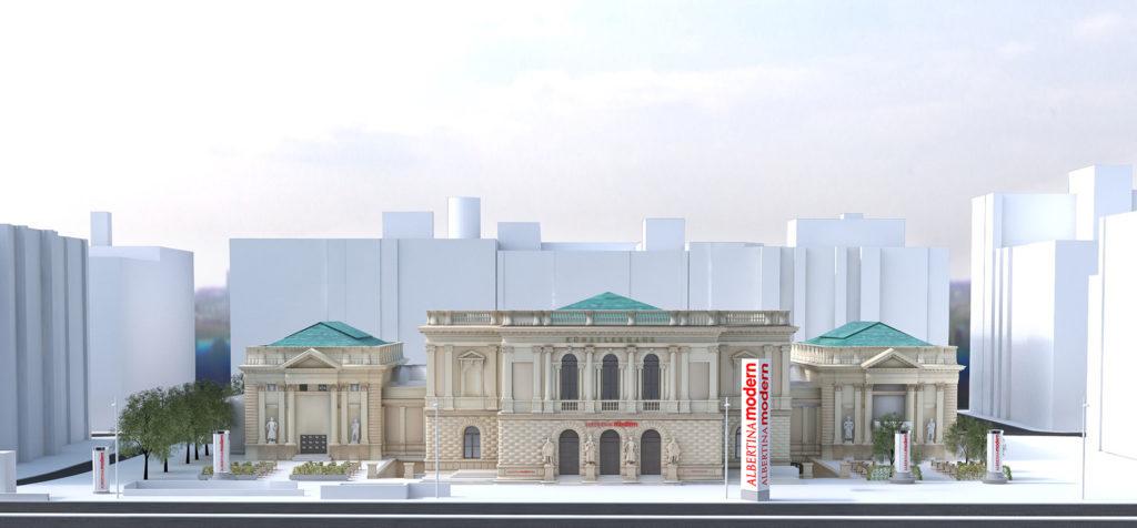 Причиной переноса открытия Музея современного искусства Альбертины Модерн в Вене стал коронавирус. На фотографии изображен макет музея Альбертины