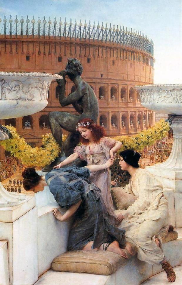 """Картина Альма-Тадема Лоренса """"Колизей"""" (1896) в Частной коллекции, США"""