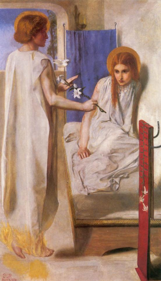 """Картина Данте Габриеля Россети """"Благовещение"""" (1850). Находится в Британской галерее Тейт, в Лондоне Художники прерафаэлиты хотели воскресить традиции религиозной живописи."""