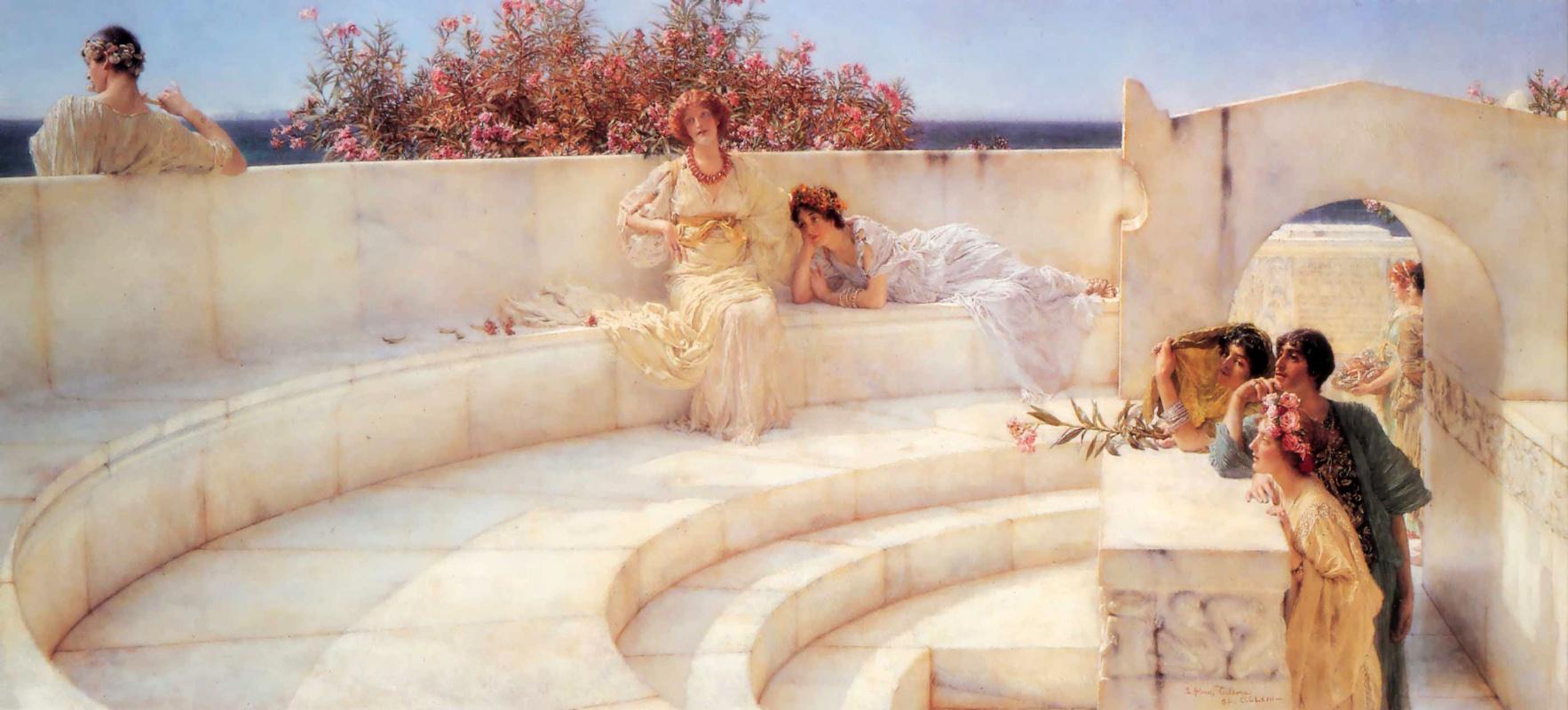 "Картина Альма-Тадема Лоренса ""Под синим ионическим небом"" (1903)"