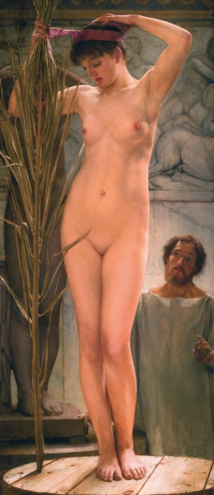 """Картина Альма-Тадема Лоренса """"Скульптор и модель"""" (1877) в Частной коллекции"""
