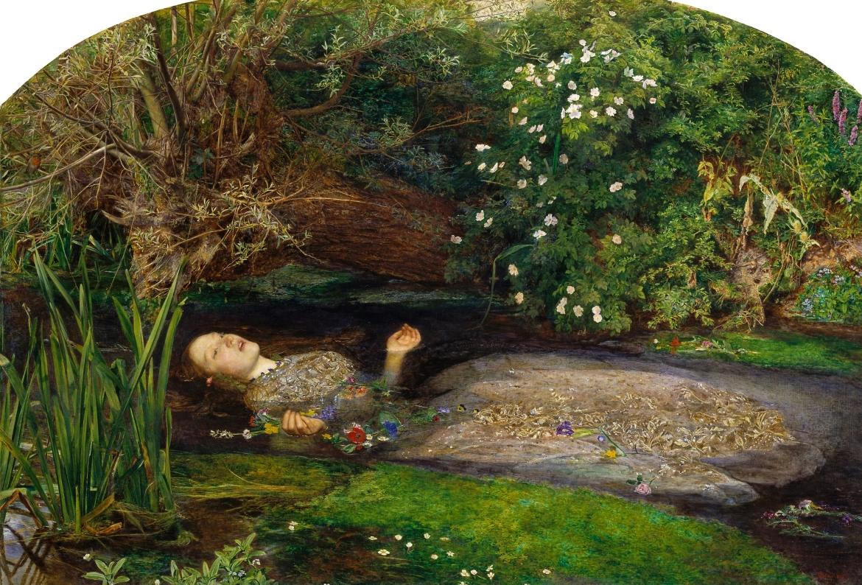 """Картина Джона Эверетта Милле """"Офелия"""" (1852). Находится в Британской галерее Тейт, в Лондоне Художники прерафаэлиты первыми стали писать на пленэре"""