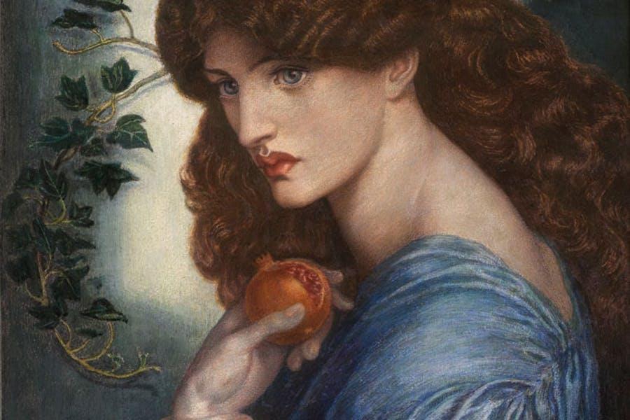 """Фрагмент картины Данте Габриэля Россети """"Прозерпина"""" (1874). Находится в Британской галерее Тейт, в Лондоне"""