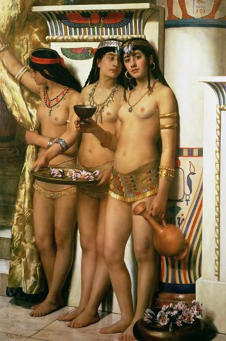 """Картина Джона Кольера """"Служанки Фараона"""" (1883)"""